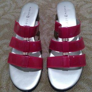 NEW Karen Scott patent leather sandals